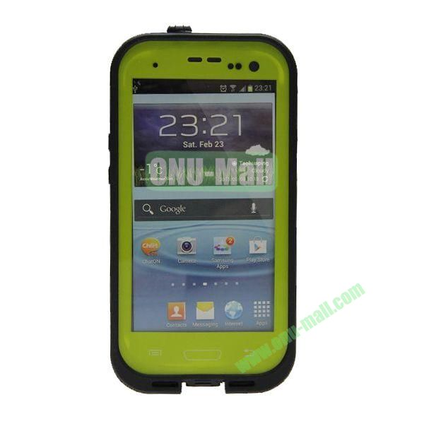 High Quality Sealed Waterproof Protective Case for Samsung Galaxy S3i9300(Green)