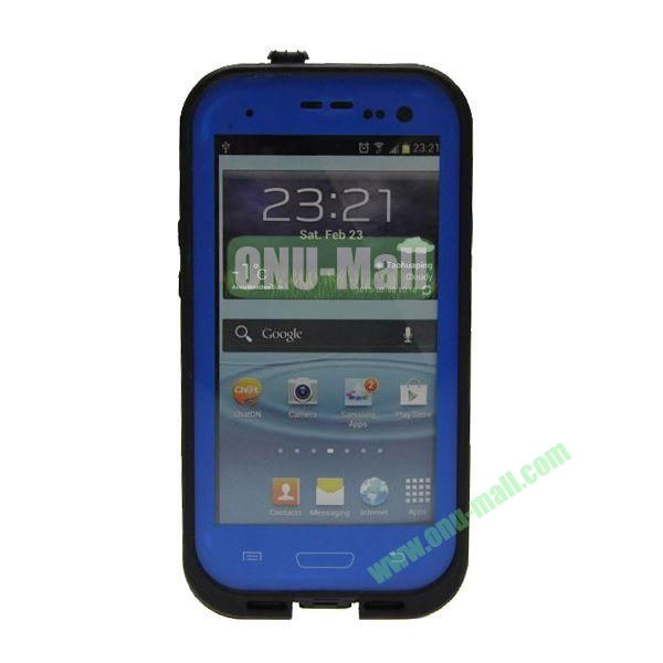 High Quality Sealed Waterproof Protective Case for Samsung Galaxy S3i9300(Blue)