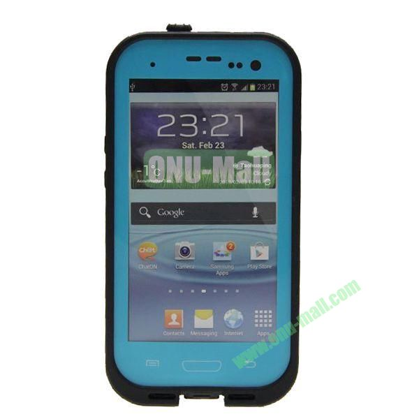 High Quality Sealed Waterproof Protective Case for Samsung Galaxy S3i9300(Light Blue)