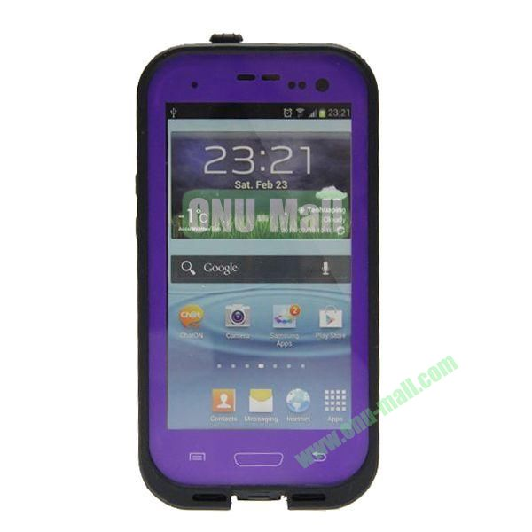 High Quality Sealed Waterproof Protective Case for Samsung Galaxy S3i9300(Purple)