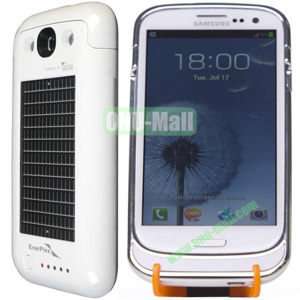 Newest Solar Battery Case for Samsung Galaxy S3  I9300 (White)