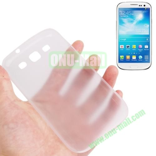 0.3mm Ultrathin Frosted Shell Case for Samsung Galaxy S3I9300 (White)