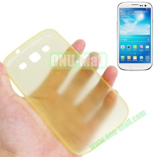 0.3mm Ultrathin Frosted Shell Case for Samsung Galaxy S3I9300 (Yellow)