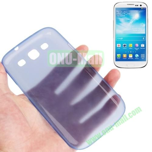 0.3mm Ultrathin Frosted Shell Case for Samsung Galaxy S3I9300 (Blue)