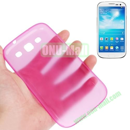 0.3mm Ultrathin Frosted Shell Case for Samsung Galaxy S3I9300 (Rose)