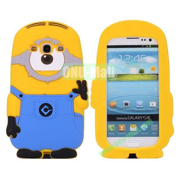 3D Cartoon Despicable Me Minions Silicone Case for Samsung Galaxy 3  I9300
