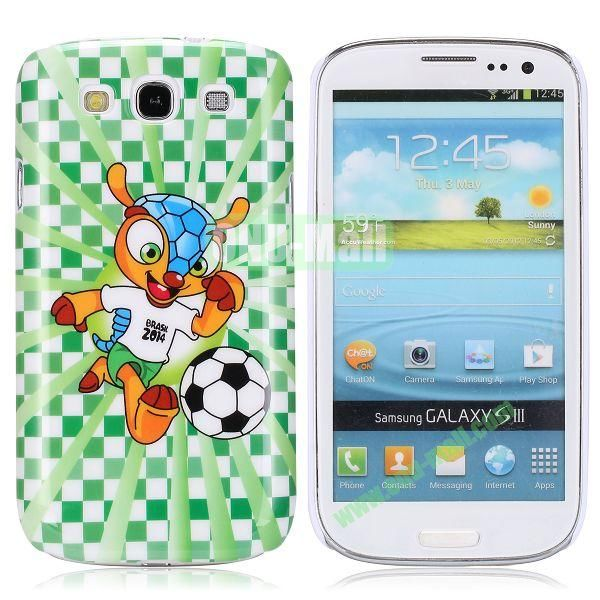 2014 FIFA World Cup Smooth Plastic Hard Case for Samsung I9300 Galaxy S3