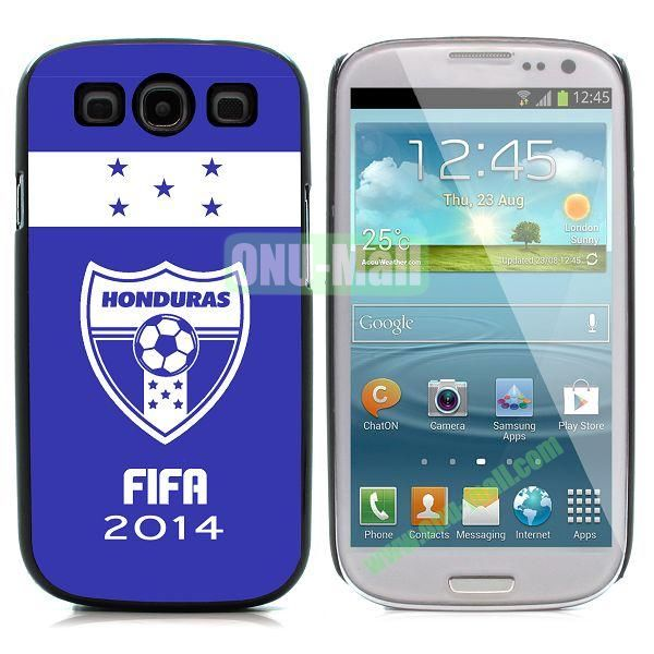 2014 FIFA World Cup Pattern Aluminium Coated PC Hard Case for Samsung I9300 Galaxy S3 (Honduras)