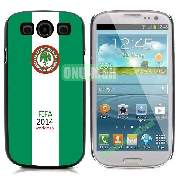 2014 FIFA World Cup Pattern Aluminium Coated PC Hard Case for Samsung I9300 Galaxy S3 (Nigeria)