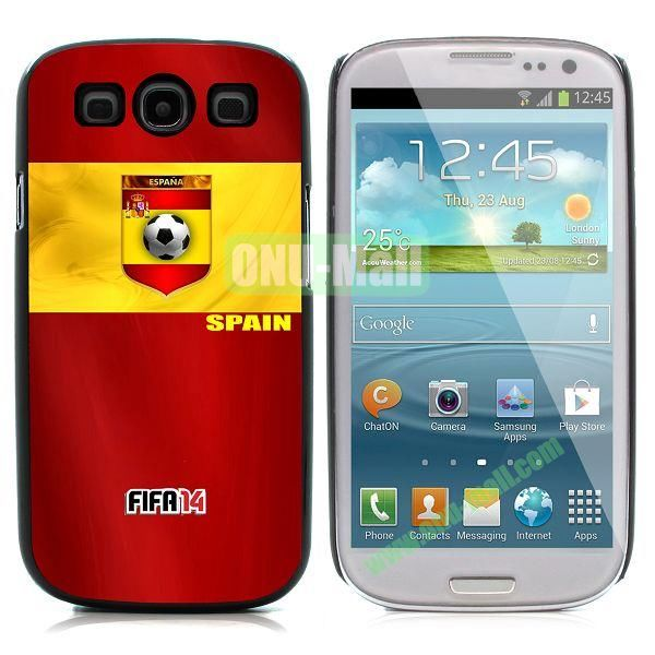 2014 FIFA World Cup Pattern Aluminium Coated PC Hard Case for Samsung I9300 Galaxy S3 (Russia)