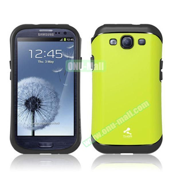 Verus Style Thor Armor Design Hybrid TPU and PC Hard Case for Samsung Galaxy S3 i9300 (Green)