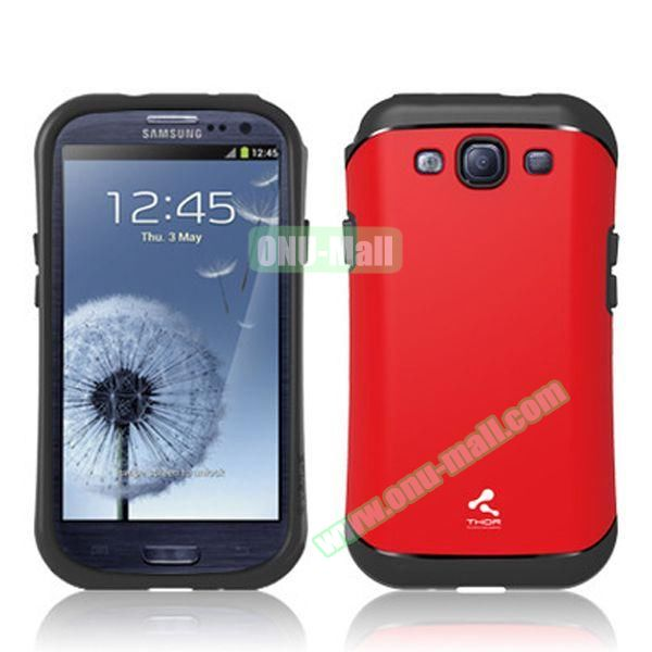 Verus Style Thor Armor Design Hybrid TPU and PC Hard Case for Samsung Galaxy S3 i9300 (Red)