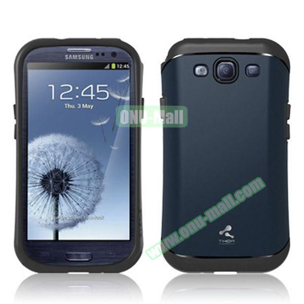 Verus Style Thor Armor Design Hybrid TPU and PC Hard Case for Samsung Galaxy S3 i9300 (Dark Blue)
