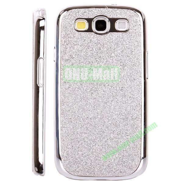 Electroplating Glitter Bling Hard Case For Samsung Galaxy SIIII9300 (Silver)