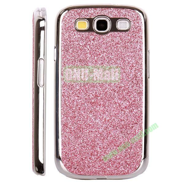 Electroplating Glitter Bling Hard Case For Samsung Galaxy SIIII9300 (Pink)