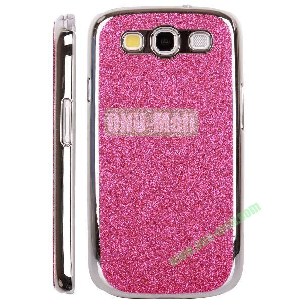 Electroplating Glitter Bling Hard Case For Samsung Galaxy SIIII9300 (Rose)