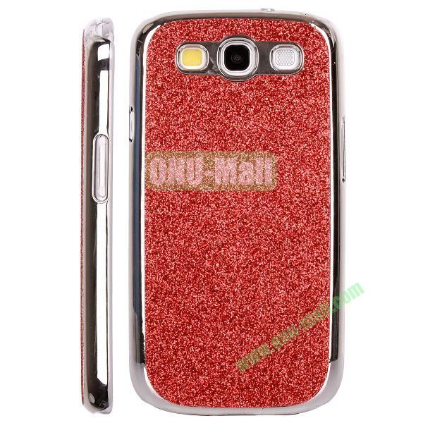 Electroplating Glitter Bling Hard Case For Samsung Galaxy SIIII9300 (Red)