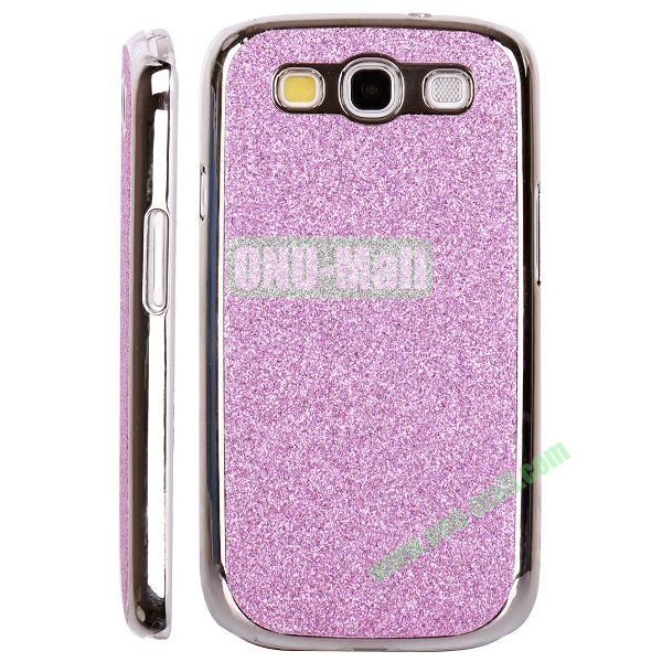 Electroplating Glitter Bling Hard Case For Samsung Galaxy SIIII9300 (Purple)