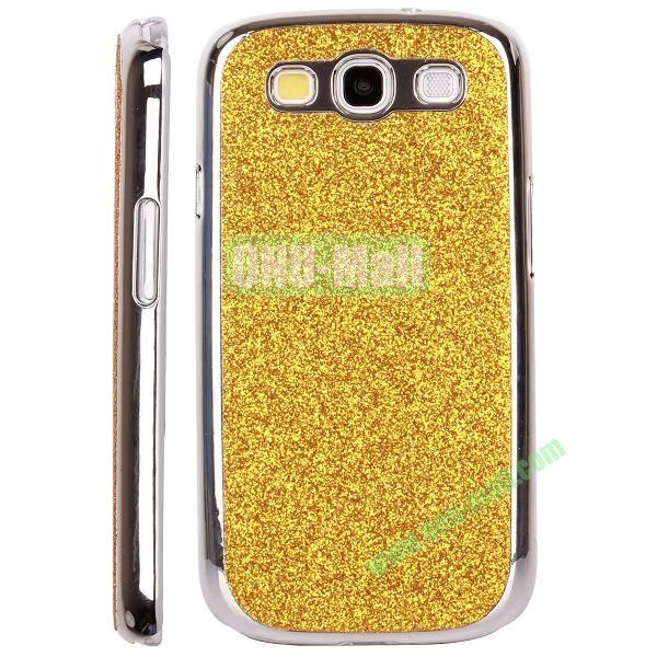Electroplating Glitter Bling Hard Case For Samsung Galaxy SIIII9300 (Gold)