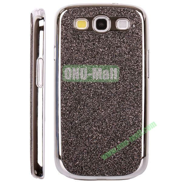Electroplating Glitter Bling Hard Case For Samsung Galaxy SIIII9300 (Brown)