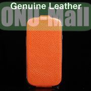Stylish K-cool Litchi Texture Vertical Flip Genuine Leather Case for Samsung Galaxy S3 I9300 (Orange)