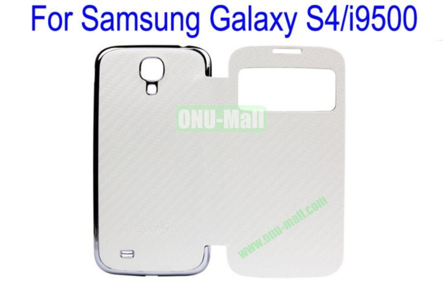 High Quality  Mat Texture Leather Case Cover for Samsung Galaxy S4i9500 With Dormancy Function(White)