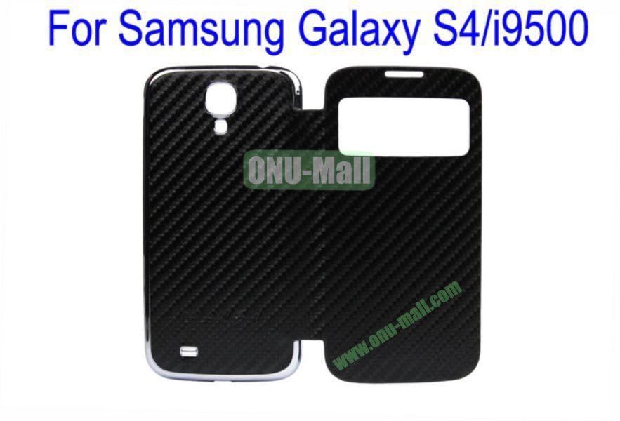 High Quality  Mat Texture Leather Case Cover for Samsung Galaxy S4i9500 Wth Dormancy Function(Black)