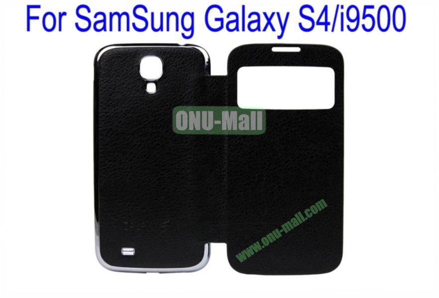 High Quality  Litchi Lines Leather Case Cover for Samsung Galaxy S4i9500 Wth Dormancy Function(Black)
