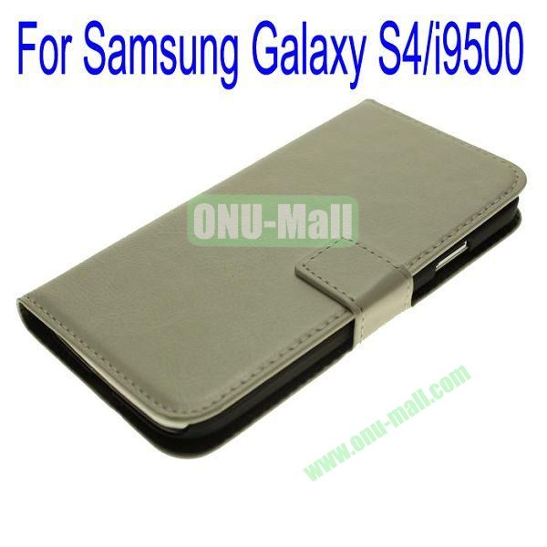 Genuine Leather Case for Samsung Galaxy S4i9500 with Card Slots(Grey)