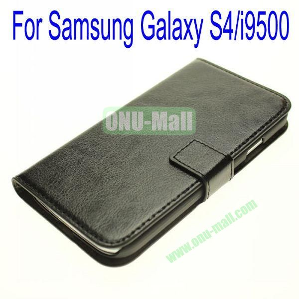 Genuine Leather Case for Samsung Galaxy S4i9500 with Card Slots(Black)