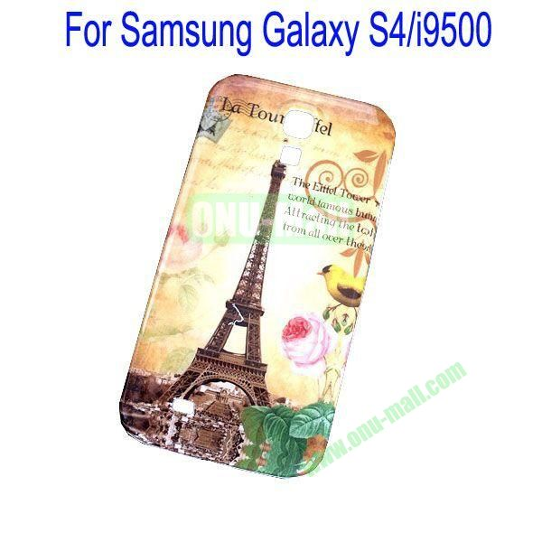 Retro Eiffel Tower and Flowers Pattern Hard case for Samsung Galaxy S4i9500