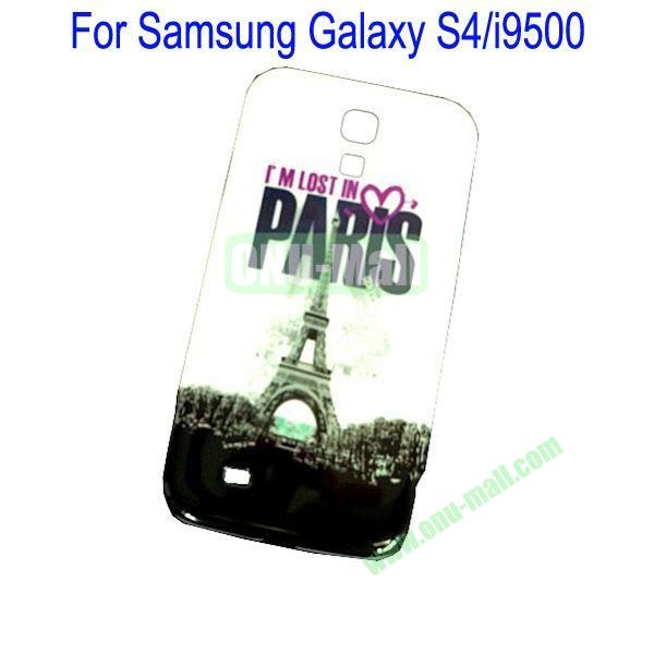Paris Eiffel Tower Pattern Hard Back Cover Case for Samsung Galaxy S4i9500