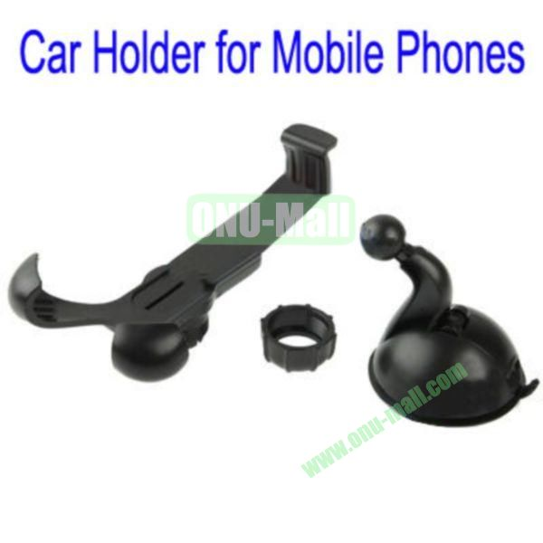 Suction Cup  360 Degree Rotating Car Holder for  iPhone 5, iPhone 44S, Samsung Galaxy S4, Galaxy S3, HTC One M7, Blackberry Z10 and Other Mobile Phones