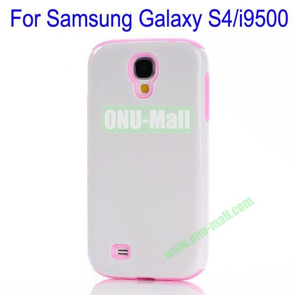 Fashion PC+TPU Glossy Case Cover for Samsung Galaxy S4i9500(White+Rose)