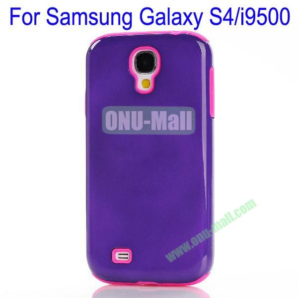 Fashion PC+TPU Glossy Case Cover for Samsung Galaxy S4i9500(Purple+Rose)