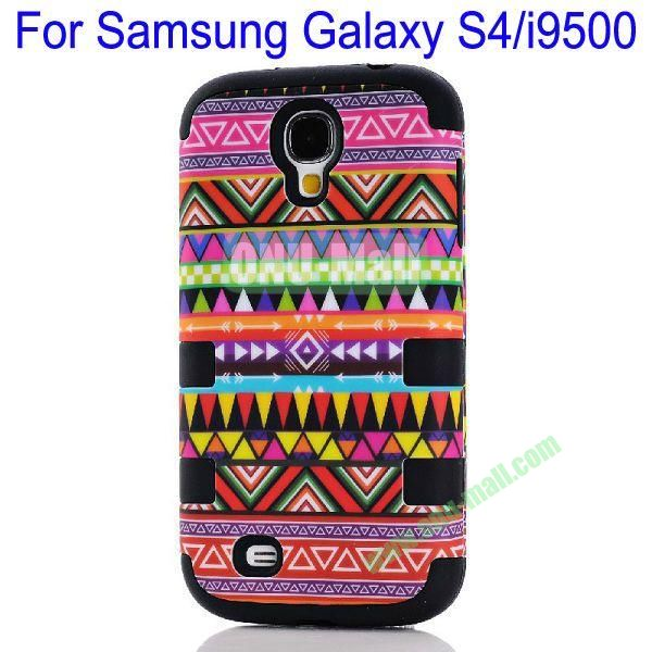 Wholesale Defender Tribe Case 3 in One Protective PC + Silicone Front and Back Aztec Cover for Samsung Galaxy S4i9500(Black)