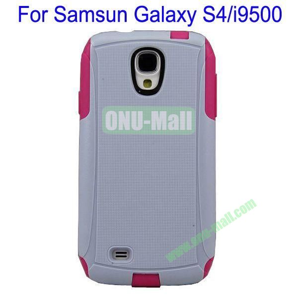 High Quality 2 in 1 Commuter Case Cover for Samsung Galaxy S4i9500(White+Rose)