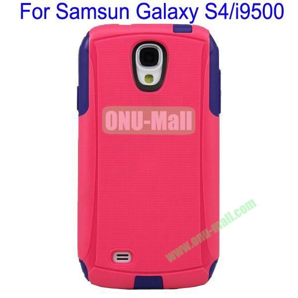 High Quality 2 in 1 Commuter Case Cover for Samsung Galaxy S4i9500(Rose+Black)
