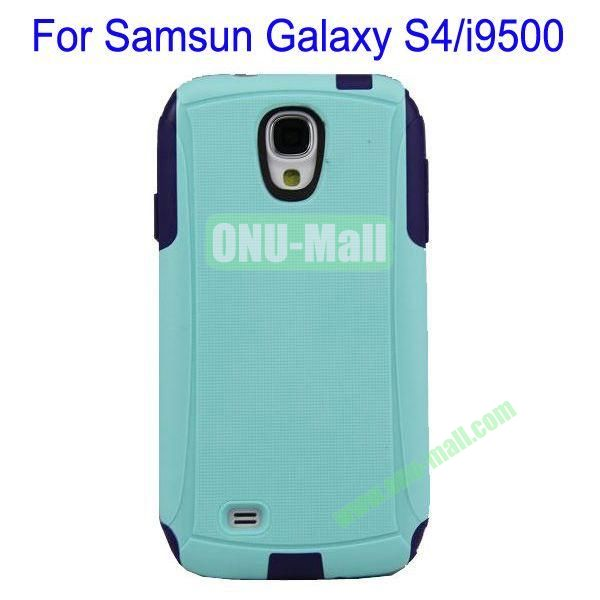 High Quality 2 in 1 Commuter Case Cover for Samsung Galaxy S4i9500(BayeBlue+Black)