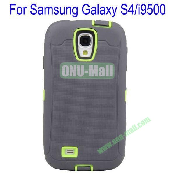 High Quality 3 in 1Defender Case Cover for Samsung Galaxy S4i9500(Grey+Green)