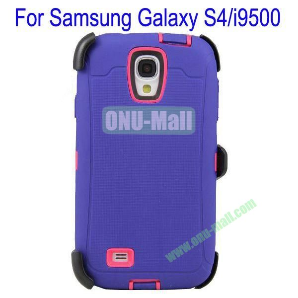 High Quality 3 in 1Defender Case Cover for Samsung Galaxy S4i9500(Purple+Rose)
