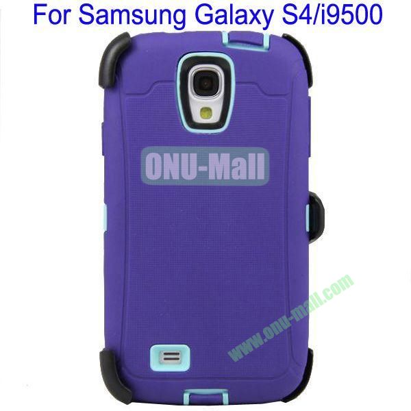 High Quality 3 in 1Defender Case Cover for Samsung Galaxy S4i9500(Purple+Blue)