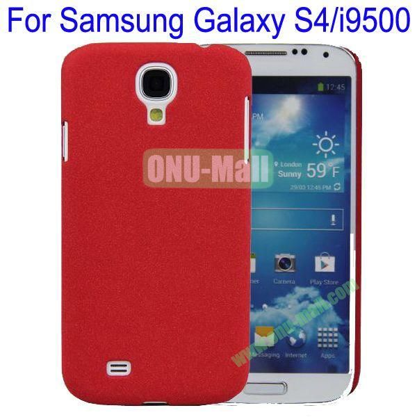 Ultrathin Quicksand Hard Case Cover for Samsung Galaxy S4i9500(Red)