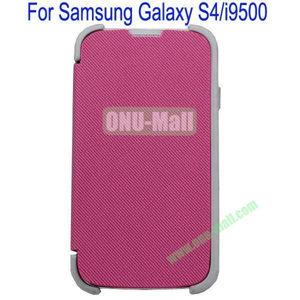 Two Foilo Folding Twill Leather Case Cover for Samsung Galaxy S4i9500 with Stand(Rose)