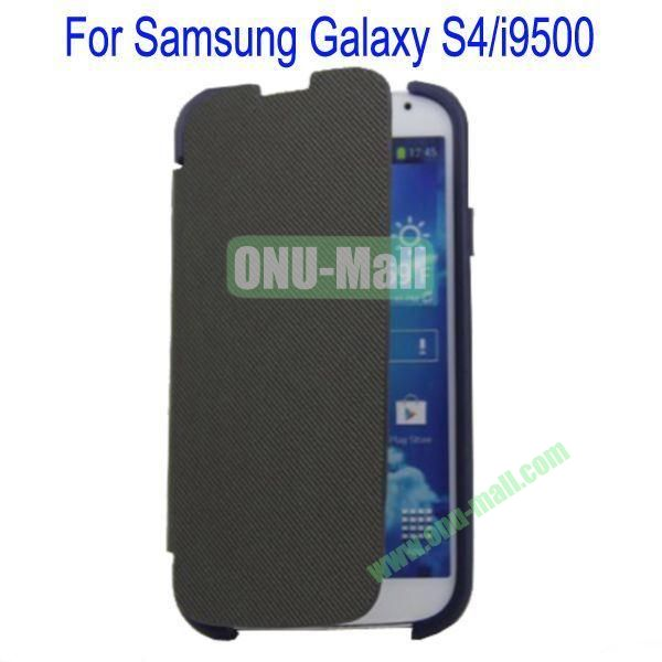 Two Foilo Folding Twill Leather Case Cover for Samsung Galaxy S4i9500 with Stand(Black)