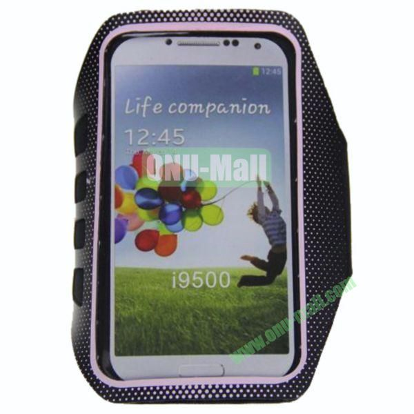 Outdoor Sport Running Gym Soft Belt Armband Pouch Bag Case for Samsung Galaxy S4i9500(Pink)