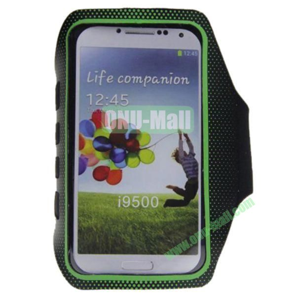 Outdoor Sport Running Gym Soft Belt Armband Pouch Bag Case for Samsung Galaxy S4i9500(Green)