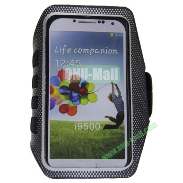 Outdoor Sport Running Gym Soft Belt Armband Pouch Bag Case for Samsung Galaxy S4i9500(Grey)