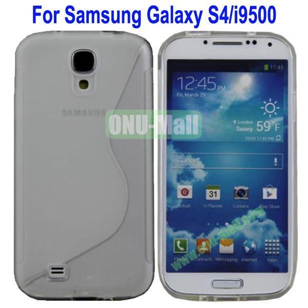 S-Shaped Curve Pattern TPU Back Cover Case for Samsung Galaxy S4i9500(Transparent)