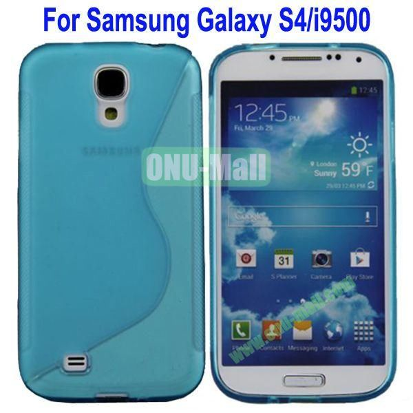 S-Shaped Curve Pattern TPU Back Cover Case for Samsung Galaxy S4i9500(Baby Blue)